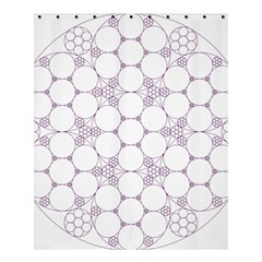 Density Multi Dimensional Gravity Analogy Fractal Circles Shower Curtain 60  X 72  (medium)  by Nexatart