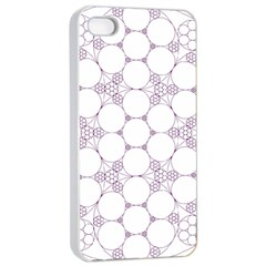 Density Multi Dimensional Gravity Analogy Fractal Circles Apple Iphone 4/4s Seamless Case (white) by Nexatart