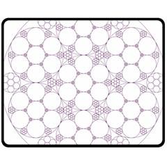 Density Multi Dimensional Gravity Analogy Fractal Circles Double Sided Fleece Blanket (medium)  by Nexatart