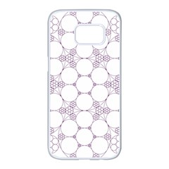 Density Multi Dimensional Gravity Analogy Fractal Circles Samsung Galaxy S7 Edge White Seamless Case