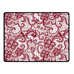 Transparent Lace With Flowers Decoration Fleece Blanket (small) by Nexatart