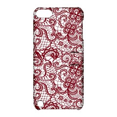 Transparent Lace With Flowers Decoration Apple Ipod Touch 5 Hardshell Case With Stand by Nexatart