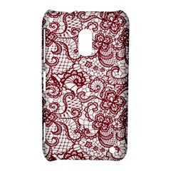 Transparent Lace With Flowers Decoration Nokia Lumia 620 by Nexatart