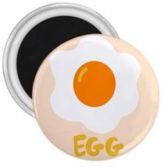 Egg Eating Chicken Omelette Food 3  Magnets by Nexatart