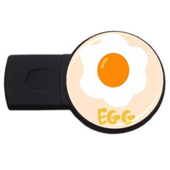 Egg Eating Chicken Omelette Food USB Flash Drive Round (4 GB) by Nexatart