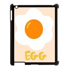 Egg Eating Chicken Omelette Food Apple Ipad 3/4 Case (black) by Nexatart