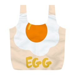 Egg Eating Chicken Omelette Food Full Print Recycle Bags (l)  by Nexatart