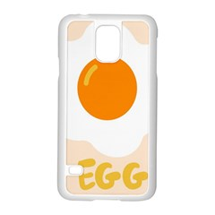 Egg Eating Chicken Omelette Food Samsung Galaxy S5 Case (white) by Nexatart