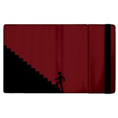 Walking Stairs Steps Person Step Apple Ipad 3/4 Flip Case by Nexatart