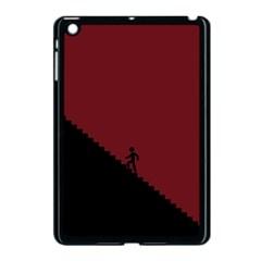 Walking Stairs Steps Person Step Apple Ipad Mini Case (black) by Nexatart