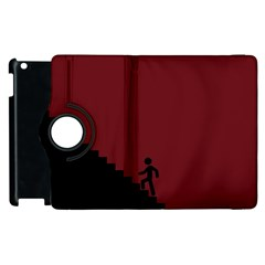 Walking Stairs Steps Person Step Apple Ipad 2 Flip 360 Case by Nexatart