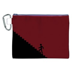 Walking Stairs Steps Person Step Canvas Cosmetic Bag (xxl) by Nexatart