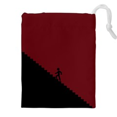 Walking Stairs Steps Person Step Drawstring Pouches (xxl) by Nexatart