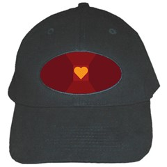 Heart Red Yellow Love Card Design Black Cap by Nexatart