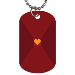 Heart Red Yellow Love Card Design Dog Tag (two Sides) by Nexatart