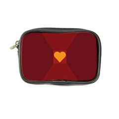 Heart Red Yellow Love Card Design Coin Purse by Nexatart