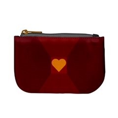Heart Red Yellow Love Card Design Mini Coin Purses by Nexatart