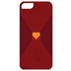 Heart Red Yellow Love Card Design Apple Iphone 5 Classic Hardshell Case by Nexatart