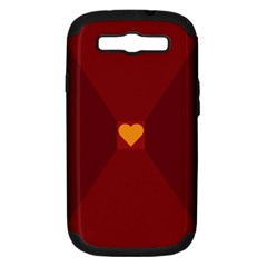 Heart Red Yellow Love Card Design Samsung Galaxy S Iii Hardshell Case (pc+silicone) by Nexatart