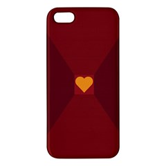 Heart Red Yellow Love Card Design Iphone 5s/ Se Premium Hardshell Case by Nexatart