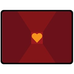 Heart Red Yellow Love Card Design Double Sided Fleece Blanket (large)  by Nexatart