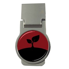 Plant Last Plant Red Nature Last Money Clips (round)  by Nexatart