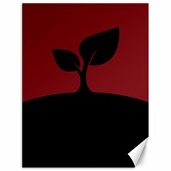Plant Last Plant Red Nature Last Canvas 18  X 24   by Nexatart