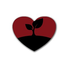 Plant Last Plant Red Nature Last Rubber Coaster (heart)  by Nexatart