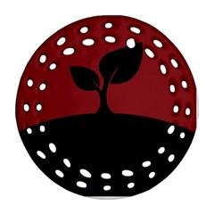 Plant Last Plant Red Nature Last Ornament (round Filigree) by Nexatart