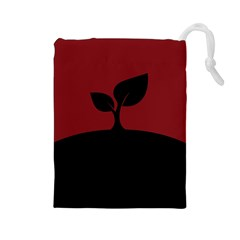 Plant Last Plant Red Nature Last Drawstring Pouches (large)  by Nexatart