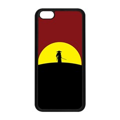 Samurai Warrior Japanese Sword Apple Iphone 5c Seamless Case (black) by Nexatart