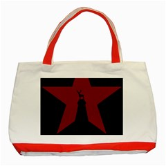 Buck Dear Animal Character Nature Classic Tote Bag (red) by Nexatart