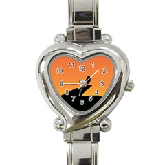 Lion Sunset Wildlife Animals King Heart Italian Charm Watch by Nexatart