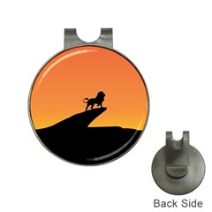 Lion Sunset Wildlife Animals King Hat Clips With Golf Markers by Nexatart