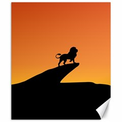 Lion Sunset Wildlife Animals King Canvas 20  X 24   by Nexatart