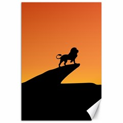 Lion Sunset Wildlife Animals King Canvas 20  X 30   by Nexatart