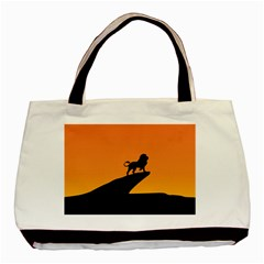 Lion Sunset Wildlife Animals King Basic Tote Bag (two Sides) by Nexatart