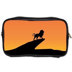 Lion Sunset Wildlife Animals King Toiletries Bags by Nexatart
