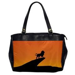 Lion Sunset Wildlife Animals King Office Handbags by Nexatart