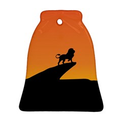Lion Sunset Wildlife Animals King Bell Ornament (two Sides) by Nexatart