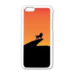Lion Sunset Wildlife Animals King Apple Iphone 6/6s White Enamel Case by Nexatart