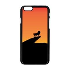 Lion Sunset Wildlife Animals King Apple Iphone 6/6s Black Enamel Case by Nexatart