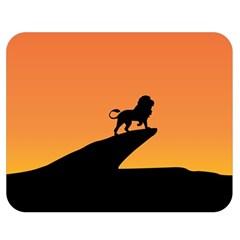 Lion Sunset Wildlife Animals King Double Sided Flano Blanket (medium)  by Nexatart