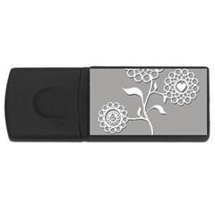 Flower Heart Plant Symbol Love Usb Flash Drive Rectangular (4 Gb) by Nexatart