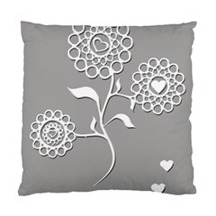 Flower Heart Plant Symbol Love Standard Cushion Case (one Side) by Nexatart