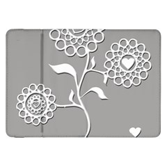 Flower Heart Plant Symbol Love Samsung Galaxy Tab 8 9  P7300 Flip Case by Nexatart