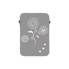 Flower Heart Plant Symbol Love Apple Ipad Mini Protective Soft Cases by Nexatart