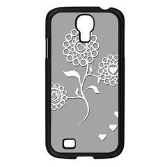 Flower Heart Plant Symbol Love Samsung Galaxy S4 I9500/ I9505 Case (black) by Nexatart