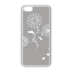 Flower Heart Plant Symbol Love Apple Iphone 5c Seamless Case (white) by Nexatart
