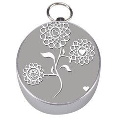 Flower Heart Plant Symbol Love Silver Compasses by Nexatart